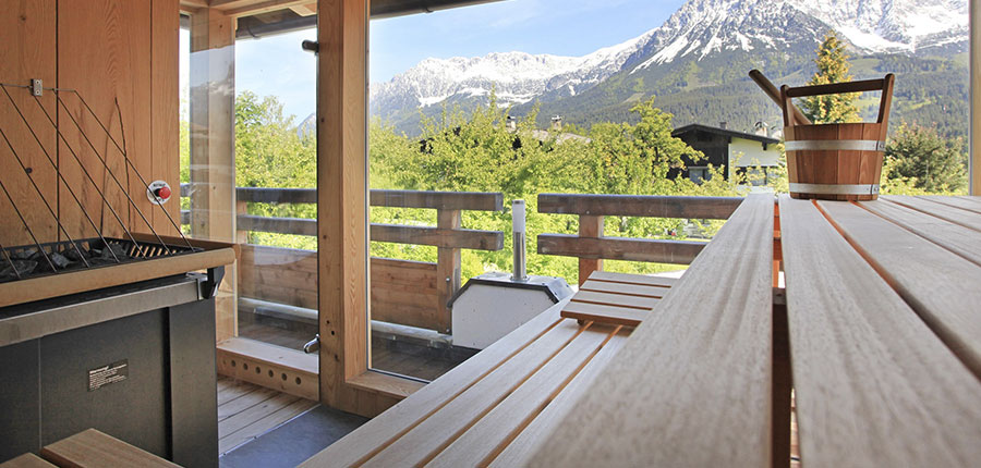 Hotel Hochfilzer, Ellmau, Austria - Outside sauna.jpg